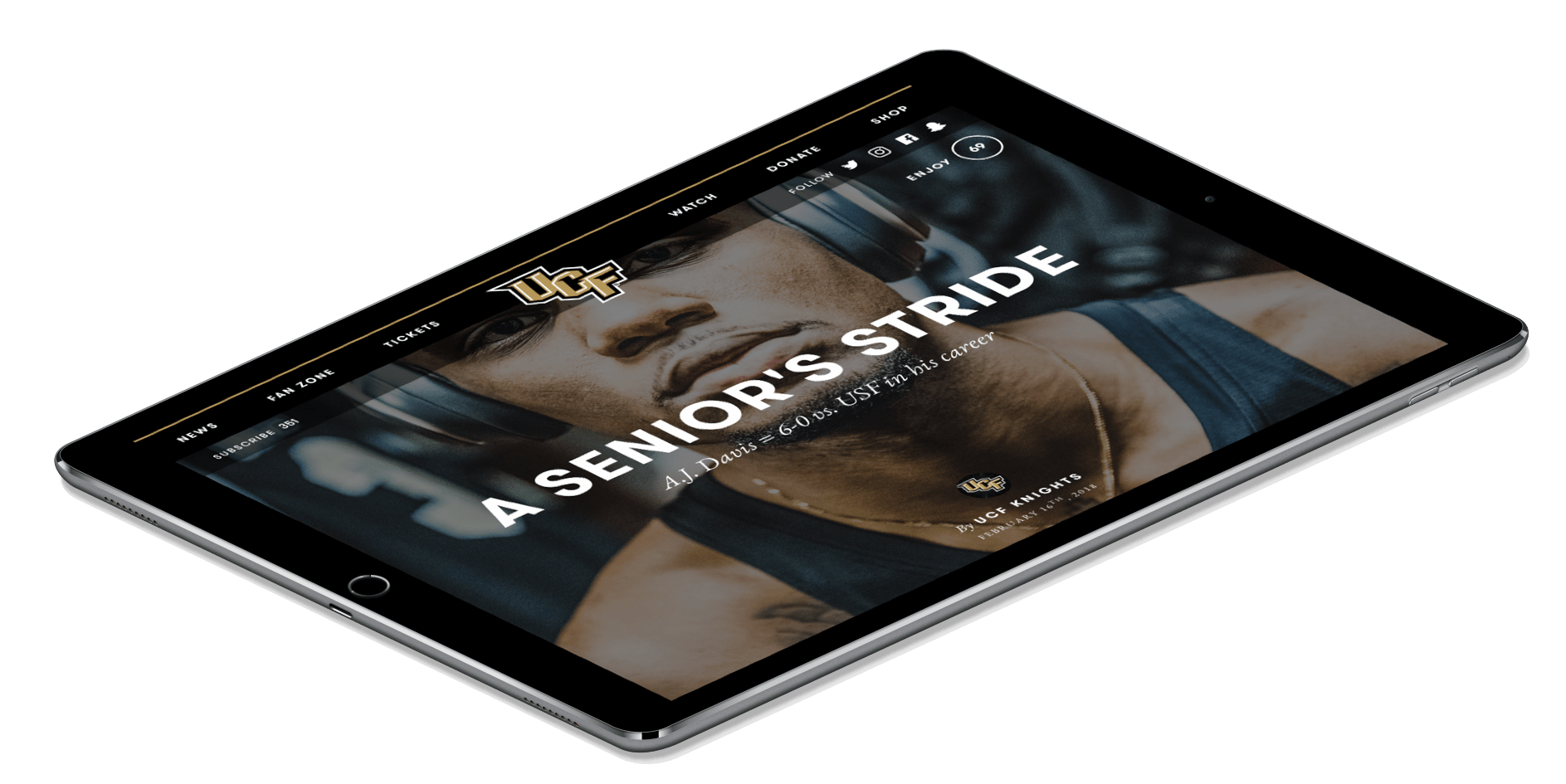 For sports footer ipad